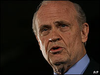 Former US Senator Fred Thompson