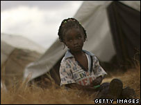 Displaced girl in Eldoret