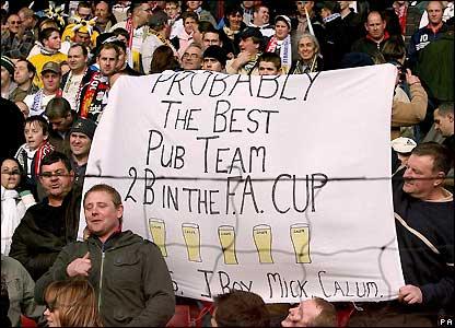 Havant & Waterlooville fans at Anfield