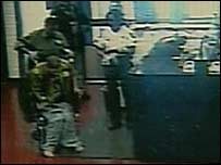 Brian Sterner being tipped from wheelchair (grab from police video)