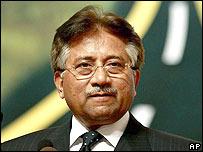 Pakistani President Pervez Musharraf