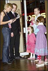 Door staff and guests