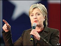 Hillary Clinton en Austin, Texas, el 3 de marzo