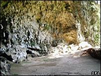 Cueva donde se encontraron los fósiles en la isla de Flores