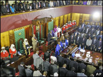 Opening of Kenyan parliament 6/03/08