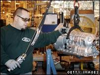 Trabajador de una planta de General Motors en Detroit