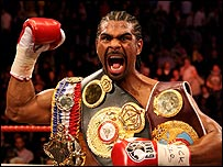 Haye slips his lid