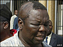 Morgan Tsvangirai after being assaulted by the police in 2005