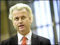 Right-wing Dutch lawmaker Geert Wilders