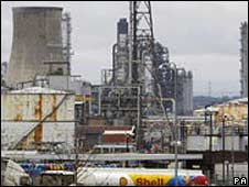 BBC News image Shell Stanlow Refinery