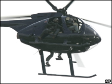 Helicopter operated by Blackwater flying over Iraq in 2007