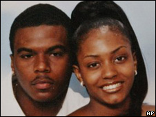Sean Bell with his fiancee Nicole