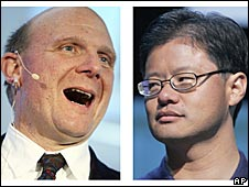 Steve Ballmer and Jerry Yang