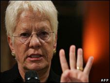 Former UN war crimes prosecutor Carla Del Ponte