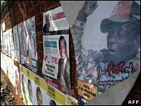 Zimbabwe election posters
