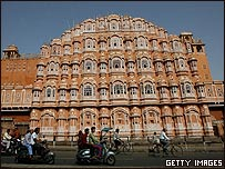 Hawa Mahal en Jaipaur, Rajastán