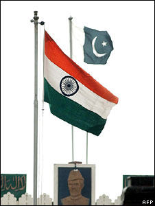 India and Pakistan flags