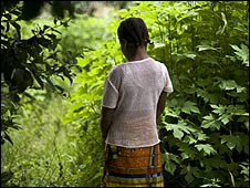 'Elizabeth', who was raped by 10 UN peacekeepers in Ivory Coast. Picture courtesy of Save the Children