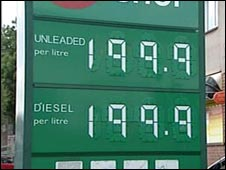 Petrol station charges £1.99 a litre