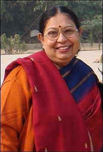Susan Banerjee, maestra de ciencia de la escuela Mater Dei, en Delhi