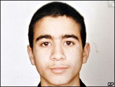 File pic of Omar Khadr before he was detained at the age of 15