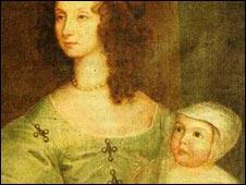 The infant Alexander Popham