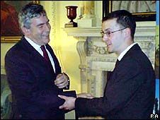 Gordon Brown and Dan Glass