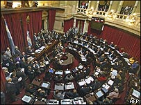 Senado de Argentina, AFP