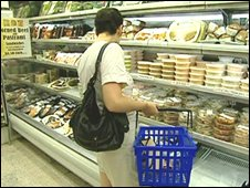 A US shopper