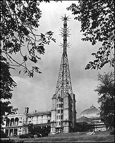 Mast at Alexandra Palace in 1945