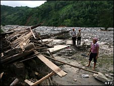 Some villages were reduced to rubble by flash floods