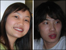 Xi Zhou and her boyfriend Zhen Xing Yang