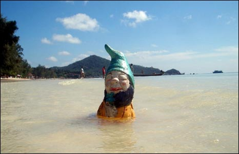 Gnome in ocean off Thialand