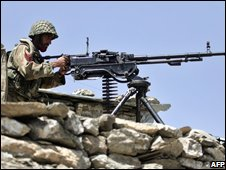 Pakistani soldier in South Waziristan