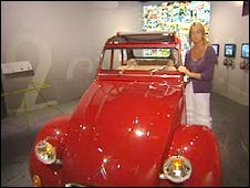 The BBC's Emma Jane Kirby at the 2CV exhibition in Paris