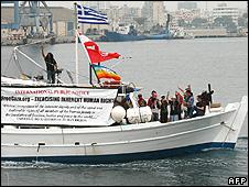 Gaza protest boat