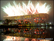 The Bird's Nest stadium hosts the closing ceremony