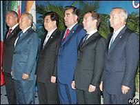 Lideres de la Organización de Cooperación de Shangai (OCS)