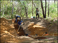 Trench over a defensive ditch (Science)