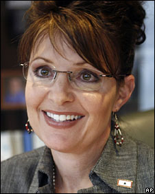 Sarah Palin, pictured in August 2008