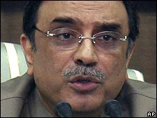 Asif Ali Zardari, head of the ruling Pakistan People's Party