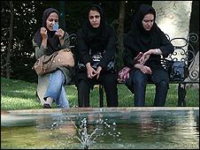 Women in the park in Tehrn (Photo Hugh Sykes)
