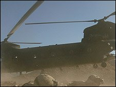 US Chinook CH-47 on operation in Afghanistan