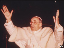 Pope Pius XII, who died in 1958