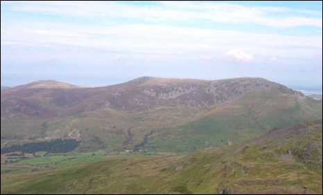 Snowdonia including Mynydd Graig Goch  on the left