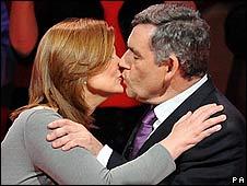 Browns kiss