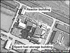 5MW(e) reactor at Yongbyon ((Satellite image from 2006)