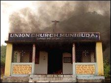 Christian church in Phulbani District of Orissa state, 26/08