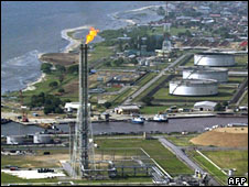 Shell Oil's oil and gas terminal on Bonny Island