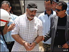 File photo of Abdelkader Belliraj in Sale, Morocco, 1 July 2008